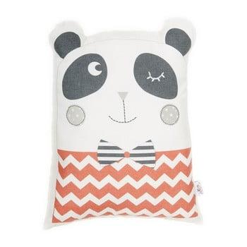 Pernă din amestec de bumbac pentru copii Mike&Co.NEWYORK Pillow Toy Panda, 25 x 36 cm, roșu bonami.ro