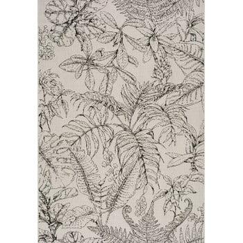 Covor potrivit pentru exterior Universal Tokio Leaf, 80 x 150 cm, crem poza bonami.ro