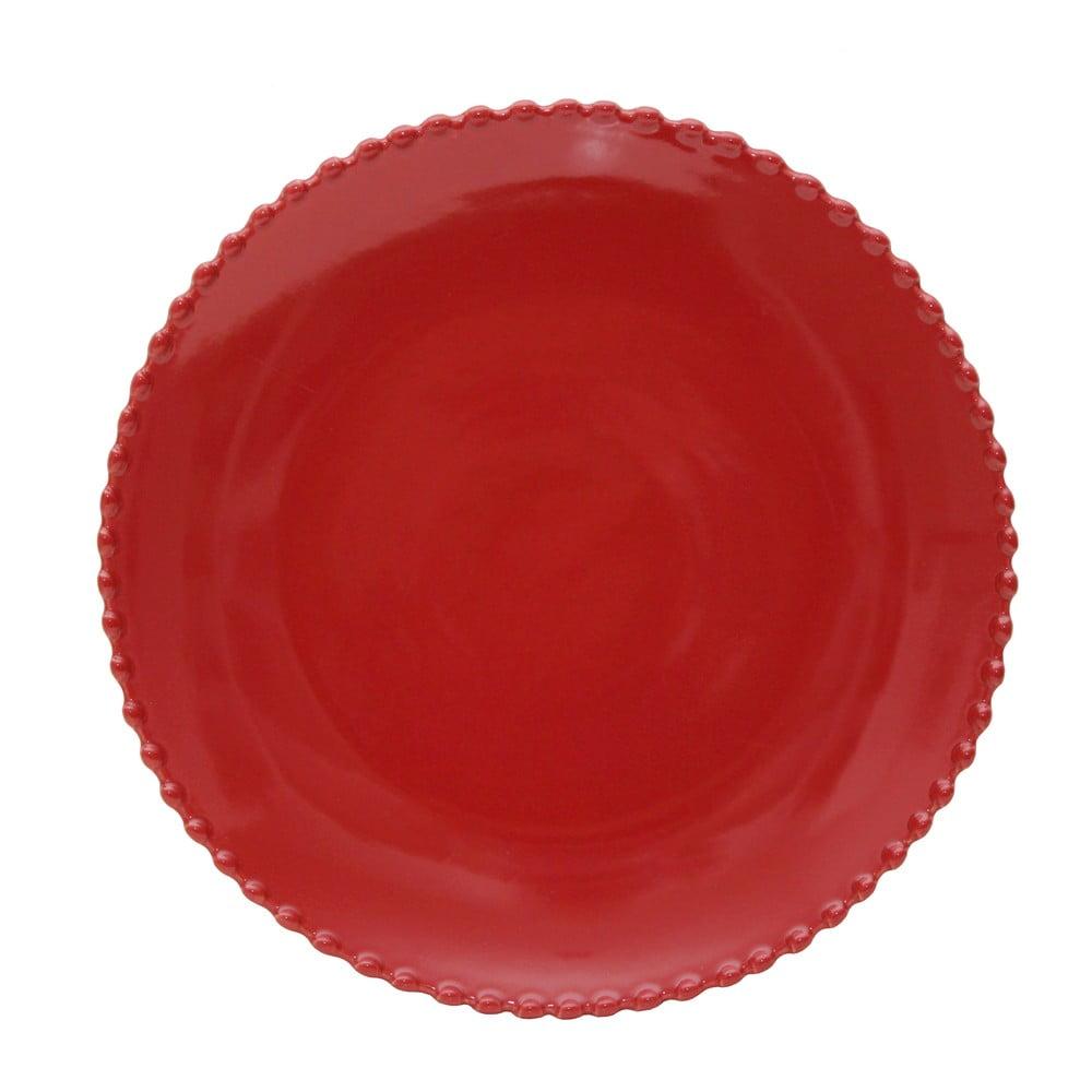 Farfurie din gresie Costa Nova, ø 28,4 cm, rosu rubin