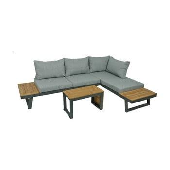 Set mobilier de grădină din 3 piese, cadru din aluminiu ADDU Felice, gri bonami.ro