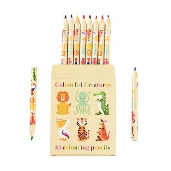 Set 10 creioane în husă cu model cu animale Rex London bonami.ro