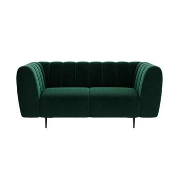 Canapea cu tapițerie din catifea Ghado Shel, 170 cm, verde închis bonami.ro