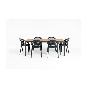 Set mobilier de gradina cu 6 scaune Le Bonom Joanna Thor