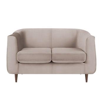 Canapea cu tapițerie din catifea Kooko Home GLAM, bej, 125 cm imagine