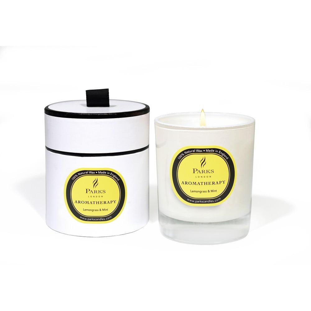 Lumânare parfumată cu aromă de lămâiță și mentă Parks Candles London Aromatherapy, durată ardere 45 ore