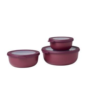 Set 3 cutii pentru gustări Rosti Mepal Cirqula, roșu închis poza bonami.ro