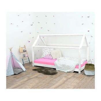 Pat pentru copii, din lemn de molid fără bariere de protecție laterale Benlemi Tery, 80 x 190 cm, alb bonami.ro