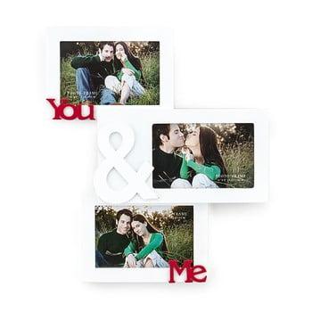 Ramă foto din lemn pentru perete Tomasucci You and Me, pentru fotografii 10 x 15 cm poza bonami.ro
