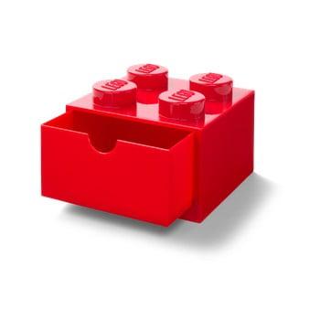 Cutie cu sertar pentru birou LEGO®, 15 x 16 cm, roșu bonami.ro