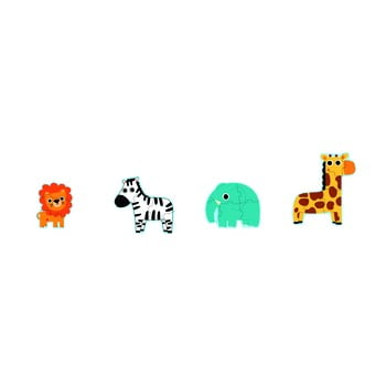 Set 4 puzzle-uri pentru copii Djeco Mini Jungle poza bonami.ro