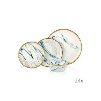 Set 24 vase din porțelan Mia Lucid Blues imagine