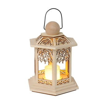 Felinar cu LED Best Season Lace, înălțime 20 cm, maro poza bonami.ro