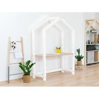 Birou din lemn în formă de casă Benlemi Stolly,97x39x133cm, alb bonami.ro