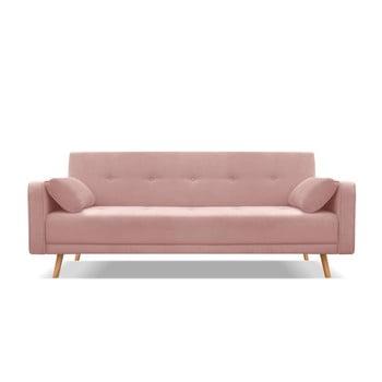 Canapea extensibilă Cosmopolitan Design Stuttgart, roz, 212 cm bonami.ro