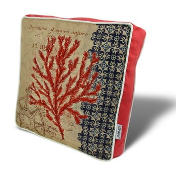 Pernă Gravel Red Tree II, 42x42cm,cuumplutură bonami.ro