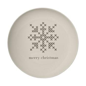Farfurie din gresie ceramică Bloomingville Cross Christmas, ⌀ 25 cm, alb poza bonami.ro
