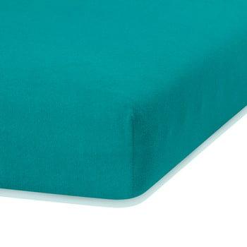 Cearceaf elastic AmeliaHome Ruby, 200 x 120-140 cm, verde închis poza bonami.ro