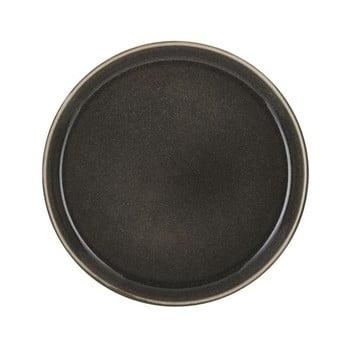 Farfurie adâncă din gresie Bitz Mensa, diametru 21 cm, gri închis bonami.ro