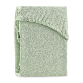 Cearșaf elastic pentru pat dublu AmeliaHome Ruby Siesta, 220-240 x 220 cm, verde poza bonami.ro