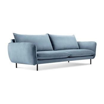 Canapea cu tapițerie de catifea Cosmopolitan Design Vienna, 200 cm, albastru deschis imagine