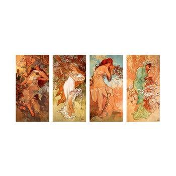Reproducere tablou Alfons Mucha - Pory Roku, 80 x 40 cm imagine