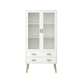 Vitrină Steens Pavona, înălțime 170,4 cm, alb imagine