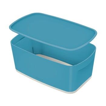 Cutie depozitare cu capac Leitz Cosy, volum 5 l, albastru poza bonami.ro