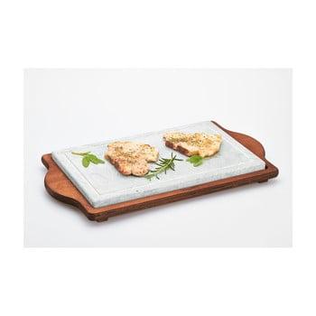 Tavă servire Bisetti Stone Plate, 25 x 40 cm bonami.ro