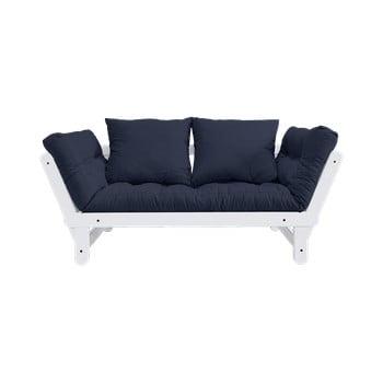 Canapea extensibilă Karup Design Beat White, albastru imagine