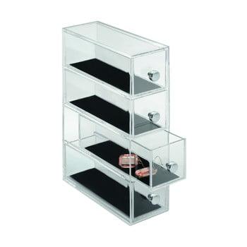 Organizator cu 4sertare iDesign Clarity, înălțime 25,5 cm bonami.ro
