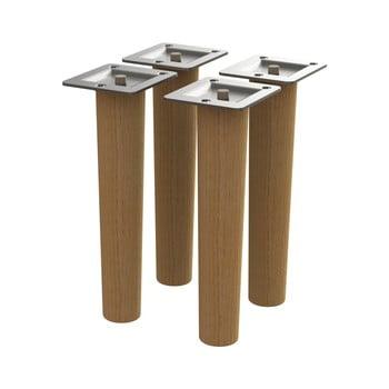 Set 4 picioare de rezervă din lemn de stejar Tenzo poza bonami.ro