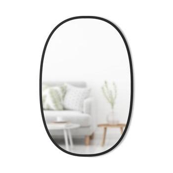 Oglinda de perete ovală și ramă neagră Umbra Hub imagine