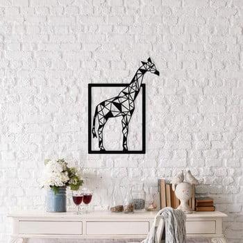 Decorațiune metalică de perete Giraffe, 45 x 60 cm, negru poza bonami.ro
