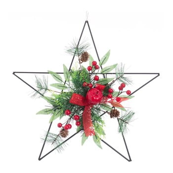 Decorațiune suspendată formă stea Unimasa, roșu bonami.ro