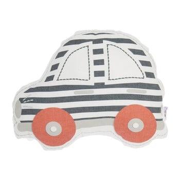 Pernă din amestec de bumbac pentru copii Mike&Co.NEWYORK Pillow Toy Car, 32 x 25 cm, gri - roșu bonami.ro