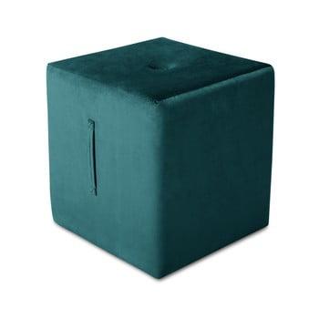 Puf Mazzini Sofas Margaret, 40 x 45 cm, albastru petrol bonami.ro