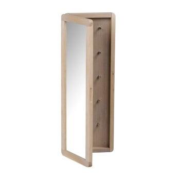 Dulăpior pentru chei din lemn de stejar, mat, cu oglindă Rowico Metro bonami.ro