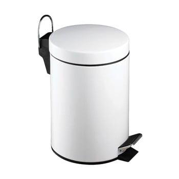 Coș de gunoi cu pedală Premier Housewares, 3 l, alb poza bonami.ro