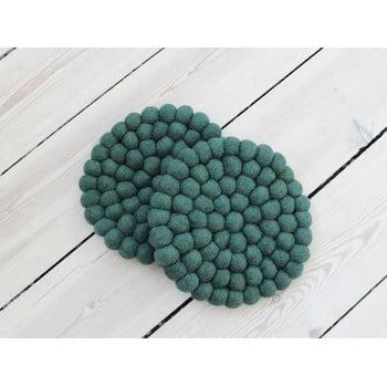 Suport pahar, cu bile din lână Wooldot Ball Coaster, ⌀ 20 cm, verde închis bonami.ro