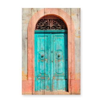 Tablou din lemn de pin Really Nice Things Door, 40 x 60 cm bonami.ro