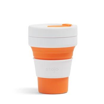 Cană pliabilă Stojo Pocket Cup, 355 ml, alb - portocaliu poza bonami.ro