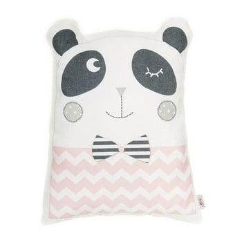 Pernă din amestec de bumbac pentru copii Mike&Co.NEWYORK Pillow Toy Panda, 25 x 36 cm, roz poza bonami.ro