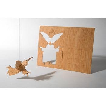 Carte poștală din lemn Formes Berlin Anděl, 14,8 x 10,5 cm poza bonami.ro