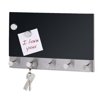 Cuier magnetic pentru haine cu tablă de scris Wenko Black Long bonami.ro