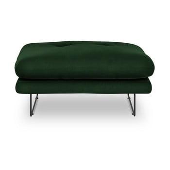 Puf cu tapițerie de catifea Windsor & Co Sofas Gravity, verde imagine