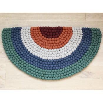 Covor cu bile din lână, pentru camera copiilor Wooldot Ball Rugs Rainbow Green imagine