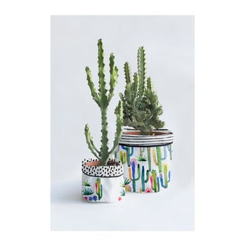 Set 2 ghivece Surdic Watercolor Cactus bonami.ro