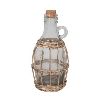 Sticlă în coș de răchită Antic Line Avec, înălțime 22 cm poza bonami.ro