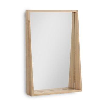 Oglinda de perete cu rama din lemn de mesteacan Geese Pure, 65 x 45 cm