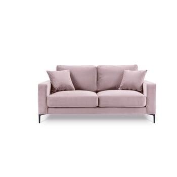 Canapea cu tapițerie din catifea Kooko Home Harmony, 158 cm, roz bonami.ro